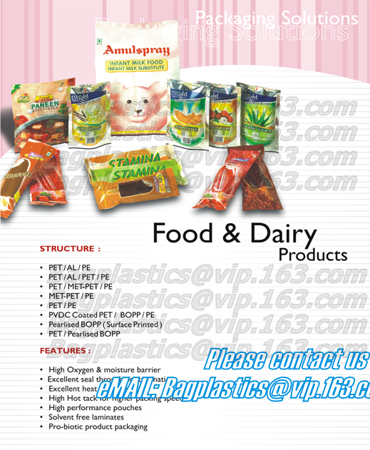 Flat bottom bags, block bottom bags, side gusset bags, side seal bags, plastic pouches
