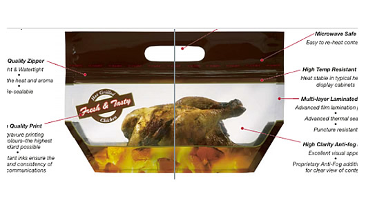 generic zip lock bags, Chicken Bag, Rotisserie Chicken Bags, Microwave Grilled Chicken bag