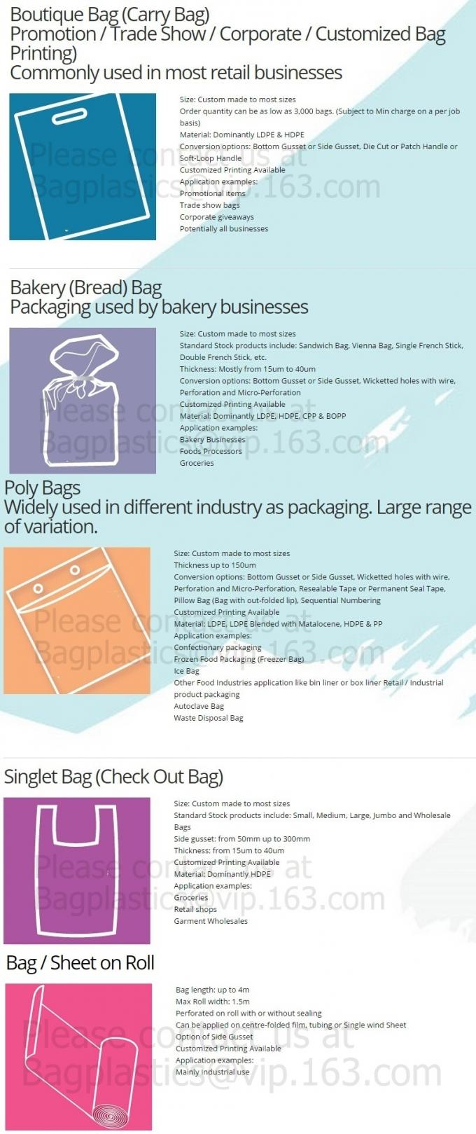 Vest Handle Sealing bags, Handle bags, Degradable T-shirt bag,biodegardable t-shirt bag