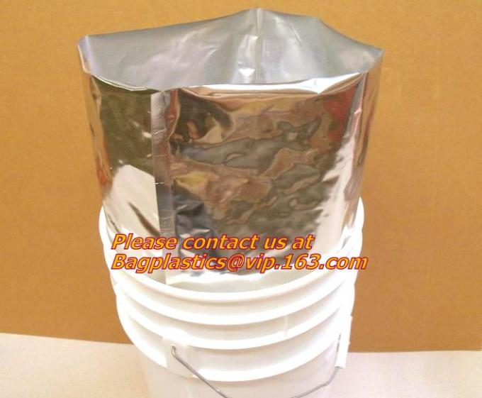 zipper silver plastic foil bag, Aluminum Foil packaging Bag, Aluminum Foil bag, Aluminum