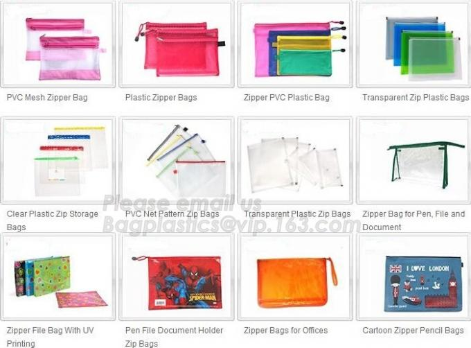plastic clear transparent color pvc zipper pencilcase/pencil bag, New funny stationery eco friendly pvc plastic soft red