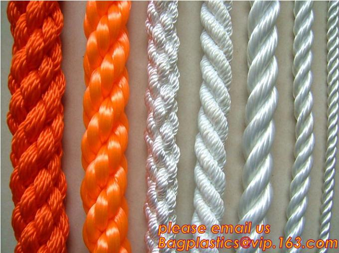 PP Twisted Split Film Rope, cheap and quality 3 inch polypropylene marine rope, polypropylene rope, PET+PP rope