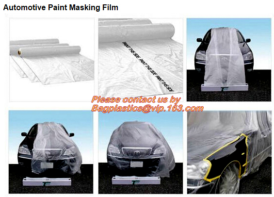 light weight Paint Maskers Masking Cloth Tape with Protective HDPE Masking Film, Automotive HDPE masking film in adhesiv