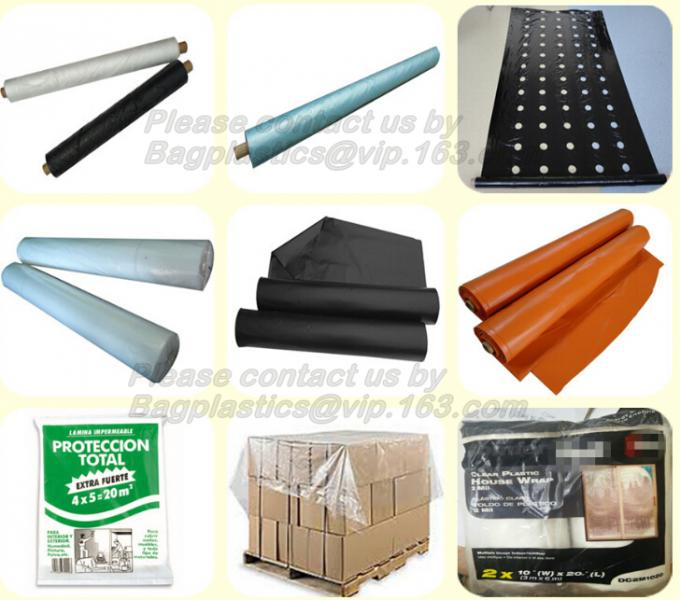 Plastic protective drop cloth, dust sheet, cover film, drop cloth, PE drop cloth, furniture protective film, furniture