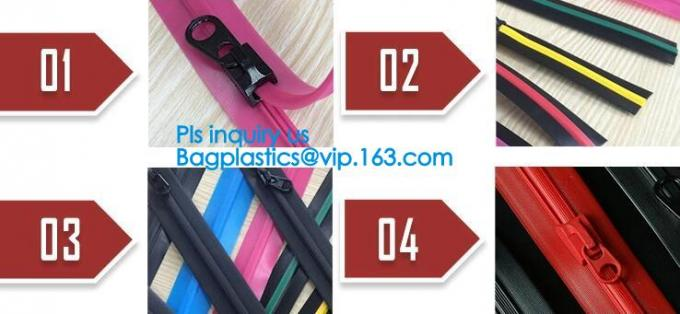 nylon open-end waterproof zipper with thumb puller, airtight PVC/ TPU nylon waterproof zipper, 3#,4#,5#,6#,7#,8#,9#, 10#