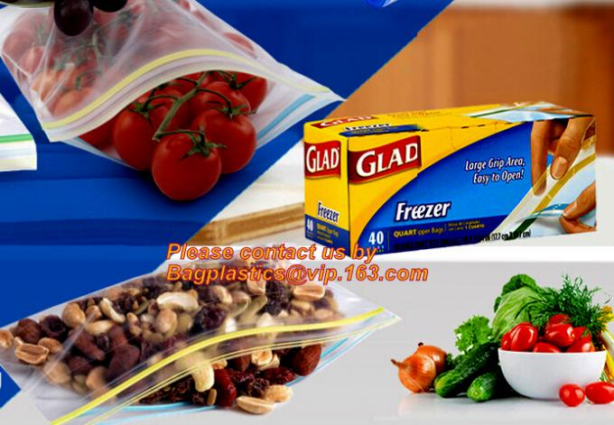 RESEALABLE seal bag, Slider seal, Slider lock, Slider grip, Slider zip, Slider zipper, Food Freezer Oven Bags