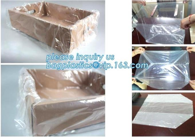 "pe bag pallet cover plastic bag sqaure bottom bag, 54 x 44 x 96"" 1 Mil ldpe Clear Pallet Covers, top covers clear plasti"