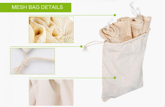 Cotton Mesh Net bag Shopping Tote Bag for foods