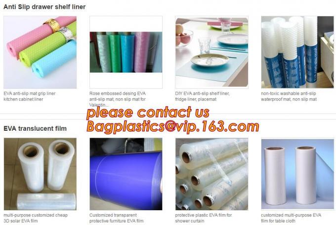 EVA / PEVA Roll Plastic Cast Peva Film, Customized PEVA EVA PE film protection film, PEVA EVA PE film protection film