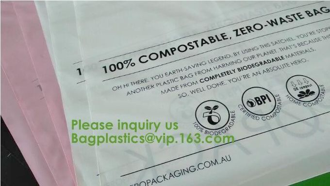 Cornstarch made biodegradable compostable shipping plastic mailing bag custom bubble mailer poly mailers bagease bagplas