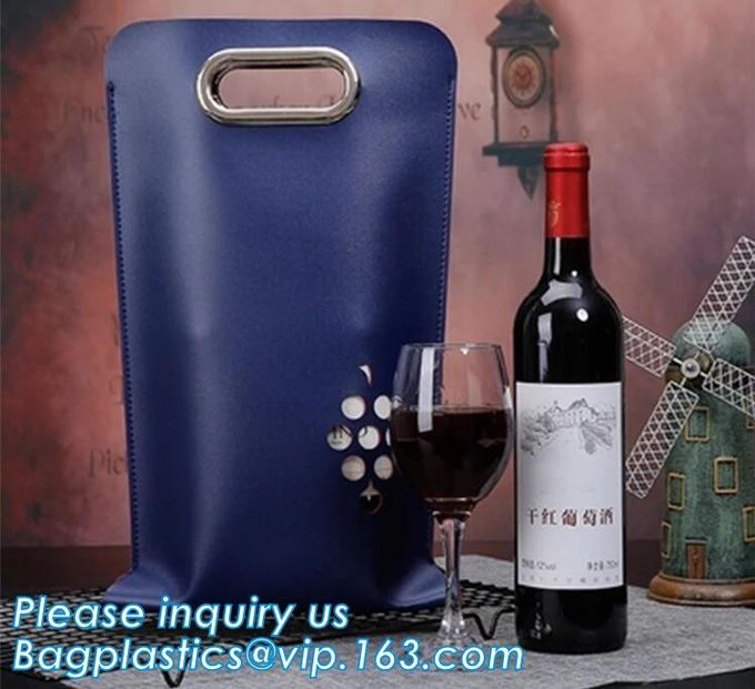 Eco friendly PVC CUSTOM ECO TOTE BAG, WINE HANDLE BAG, HANDY BAG, WINE CARRIER BAG, WINE PACK, WINE PROTECTION, BOTTLE P