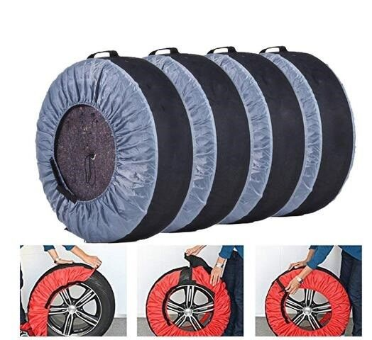 Tire Plastic Car Seat Covers , Disposable Fabric Tire Cover Protective Polyester