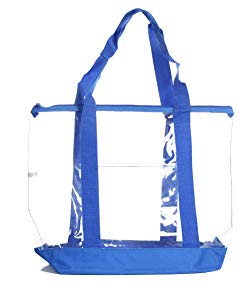 Crossbody Bag with Adjustable Shoulder Strap, Zippered Top, Perfect for Stadium, School, Sports Games, Concerts Clear St