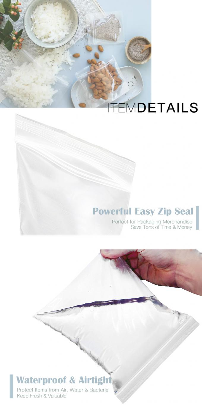 Compostable Eco Bio Reclosable Biodegradable LDPE Zipper Storage Plastic Poly Bags For Jewelry, Pills, Accessories