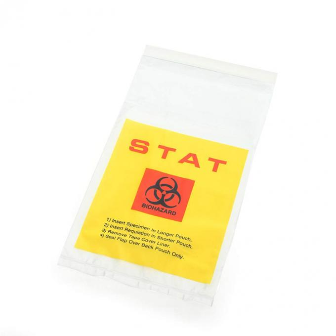 Factory Supplying medical packaging with ziplock Biohazard 4 Layer Specimen Transport bag