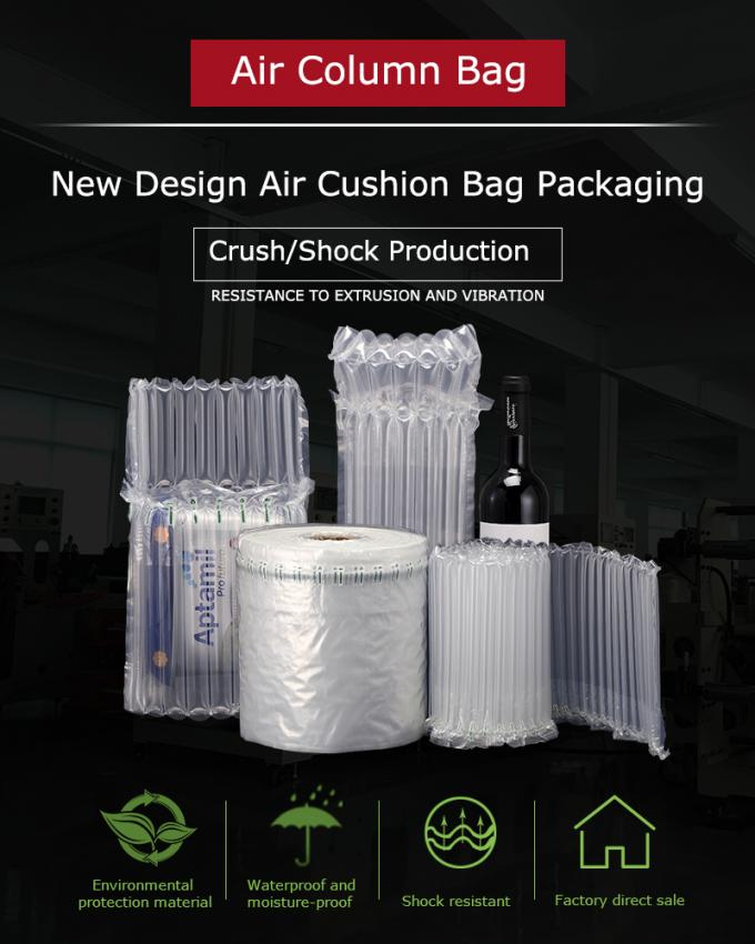 High quality Self Adhesive Seal bubble cushion bag wine bottle air column packaging,air filled bags