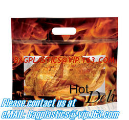 China Zipper Hot Chicken Bags/ Roasted Chicken Packaging Bag With Window/ Microwaveable Grilled Chicken Bag, bagease, bagplast supplier