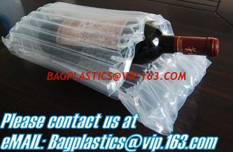 China bubble cushion bag wine bottle air column packaging,air filled bags, Protective Film, Air column bag for protect goods supplier