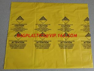 China PE BAGS FOR ROCK STONE, PE asbestos bag, biohazard bag, pe cover film, rubble sack supplier