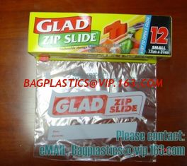 China Glad Zipper Food Bags, Microwave Bags, Slider Bags, School Lunch Pouch, Slider grip bags supplier