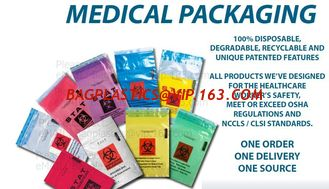 BIOHAZARD BAGS, AUTOCLAVABLE BAGS, RED BAG, YELLOW BAG, BLUE BAG, BLACK BAG, MEDICAL WASTE BAGS, SPE