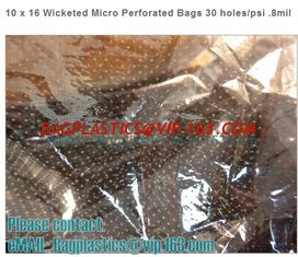 China CPP perforation bags, Wicketed Micro Perforated bags, Bakery bags, Bopp bags, Bread bags supplier