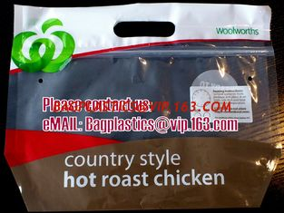 China Woolworths, Shoprite BAGS, TAKE AWAY Bag, Rotisserie Chicken Bags, Hot roast Chicken bags supplier