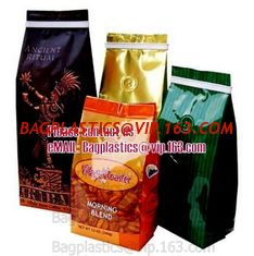 China Flat bottom bags, block bottom bags, side gusset bags, side seal bags, plastic pouches supplier
