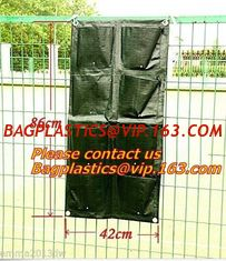China Waterproof, Garden, Patio Plant, Flower, Grow Bags, 8 Pockets, Pouch, Hanging Planter supplier