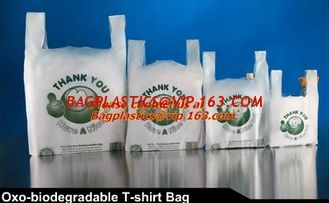 China Vest Handle Sealing bags, Handle bags, Degradable T-shirt bag,biodegardable t-shirt bag supplier