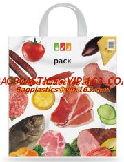 China Soft loop handle 100% biodegradable plastic bags plastic bag biodegradable, COMPOSTABLE supplier
