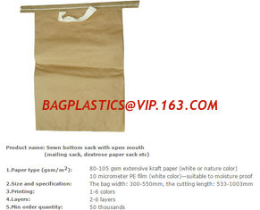 China Multiwall paper sack, Medicine packing bag, Maltitol crystal packing bag, Mail paper bag, Grain packing sacks supplier