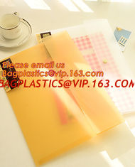 China A4 Double pockets PP document wallet plastic pockets file folder, A4 size L-shape file folder supplier