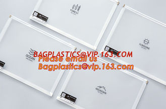 China hot selling cheap A4, A5, A6, B5 transparent plastic pe zip lock files bag /zip wallet with printing supplier
