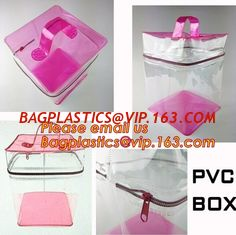 China Custom made all kinds transparent plastic make up bag clear pvc cosmetic bag for women, new fashion eco-friendly cheap w supplier