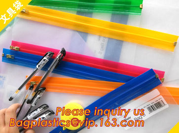 China Zippa bags, file pocket, plastic pocket, pencil holder, clip zip bags, zip clip bags, file bags, pvc file pack bags supplier