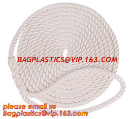 China cheap and quality 3 inch polypropylene marine rope, polypropylene rope, PET+PP rope supplier