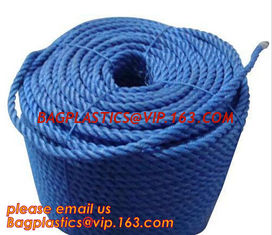 China PP Twisted Split Film Rope, cheap and quality 3 inch polypropylene marine rope, polypropylene rope, PET+PP rope supplier