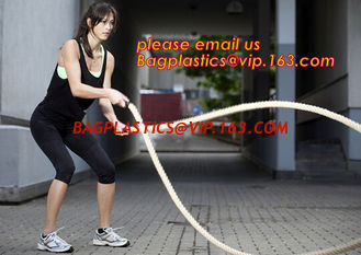 China 12 Power Packed Battle Rope Exercises, Crossfit Battle power ropes for training, GYM rope rings for fitness training supplier