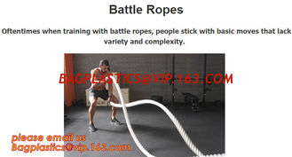 China Oftentimes when training with battle ropes, people stick with basic moves that lack variety and complexity supplier