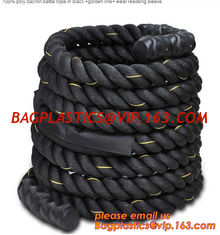 "China Poly Dacron Battle Rope 1.5"" Sports Training 40 ft Battling Battle supplier"