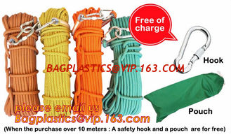 China climbing rope, protective escape rope polyester rope, escape rope, High-altitude escape rope rescue rope(fire escape,res supplier
