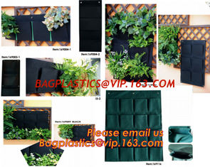 China Hanging Planter Horizontal Garden Grow Bag Vertical Garden Felt Bag supplier