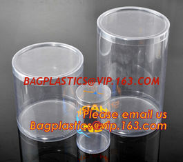 China round plastic tube,clear plastic round pet tubes,soft food grade PET round tube box supplier