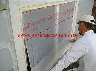 pe film large area protection from painting drips auto plastic masking film pretaped masking film