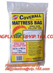 China Plastic Mattress Protector Bag or Sofa Cover For Storage ,Moving, High tensile strength matress packing bags supplier