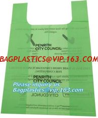 China Vest Carrier Plastic Biodegradable Shopping Bag with EN13432 Certificated, Vest Carrier Plastic Shopping Bags supplier