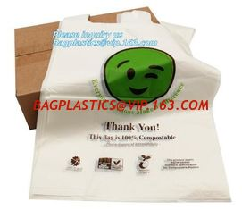 China biodegradable packing bags, Biobag Compostable T-Shirt Bag, Compostable t-shirt bag, degradable bag manufacturer vest ca supplier