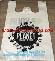 China China manufacturer 100% biodegradable singlet bags with EN13432 BPI OK compost home ASTM D6400 certificates, BIO, ECO supplier