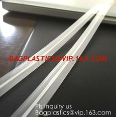 China PE & PP pvc long chain pe double color flange zipper used for zip lock plastic bags, custom zipper washing machine flang supplier